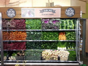 Beautiful display as you enter the produce departments.