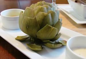 Artichoke-with-Earth-Balance-and-Garlic-Aioli
